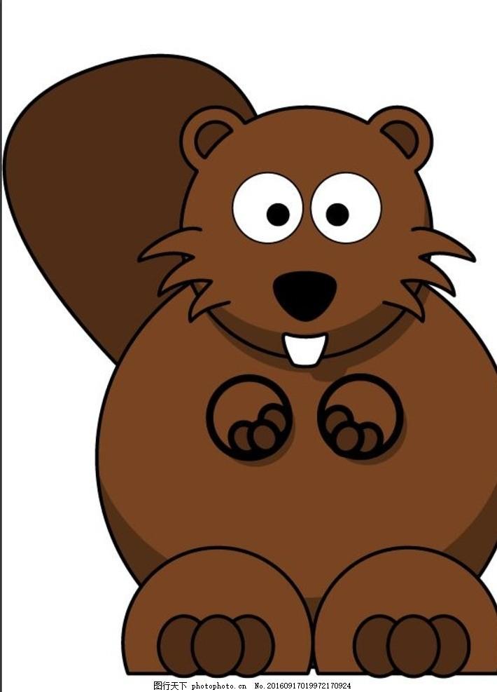 儿童画松鼠 卡通 动漫 可爱 动物矢量 生物世界 野生动物