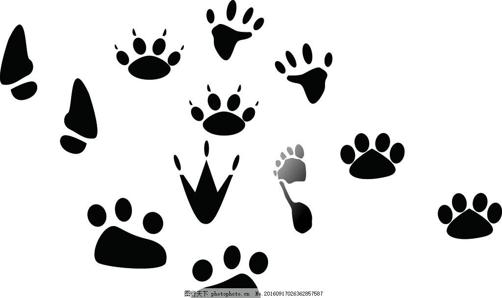 脚 脚印 动物 动物胶印 卡通脚印 小鸡脚印 人脚印 设计 生活百科