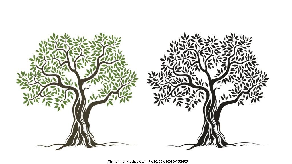 艺术矢量树 矢量树 艺术树 树根 素描树 大树 抽象树 意境树 设计