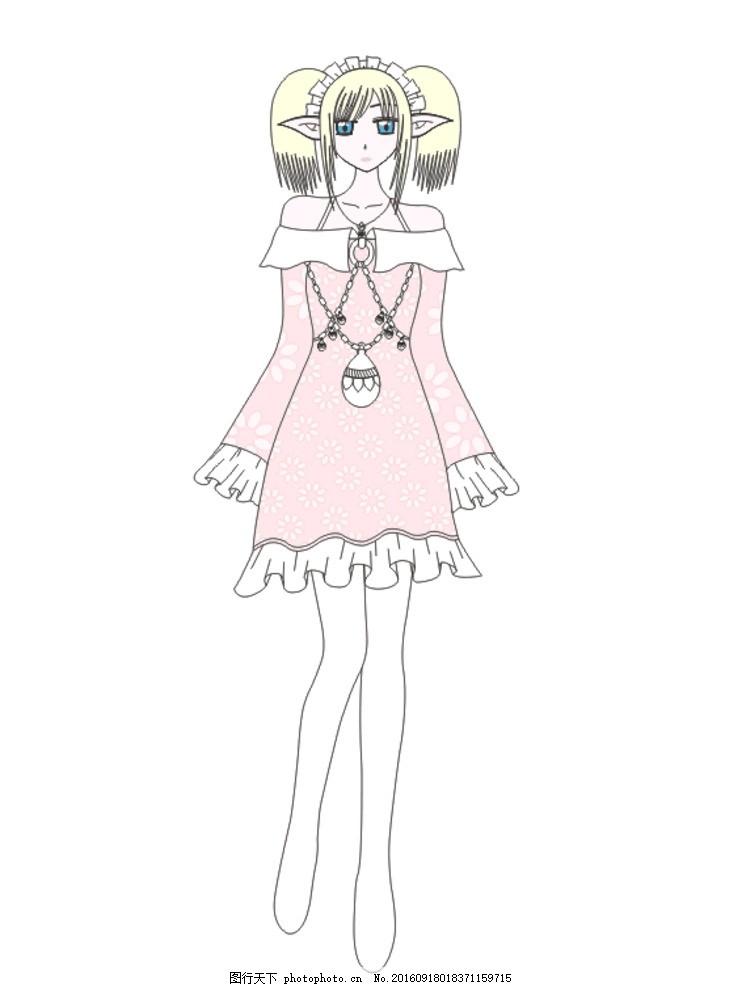 二次元 动漫 精灵 美少女 矢量图 动漫 设计 动漫动画 动漫人物 cdr