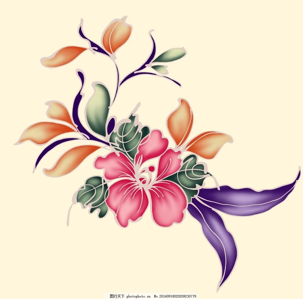 浪漫唯美手绘花朵背景 设计素材 海报背景 花纹线条 花纹背景 化妆品
