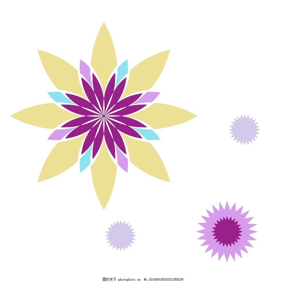 卡通图形花朵 设计素材 海报背景 浪漫唯美 花纹线条 花纹背景