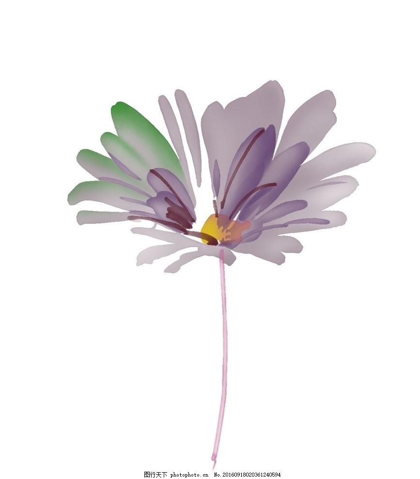 浪漫唯美花朵素材