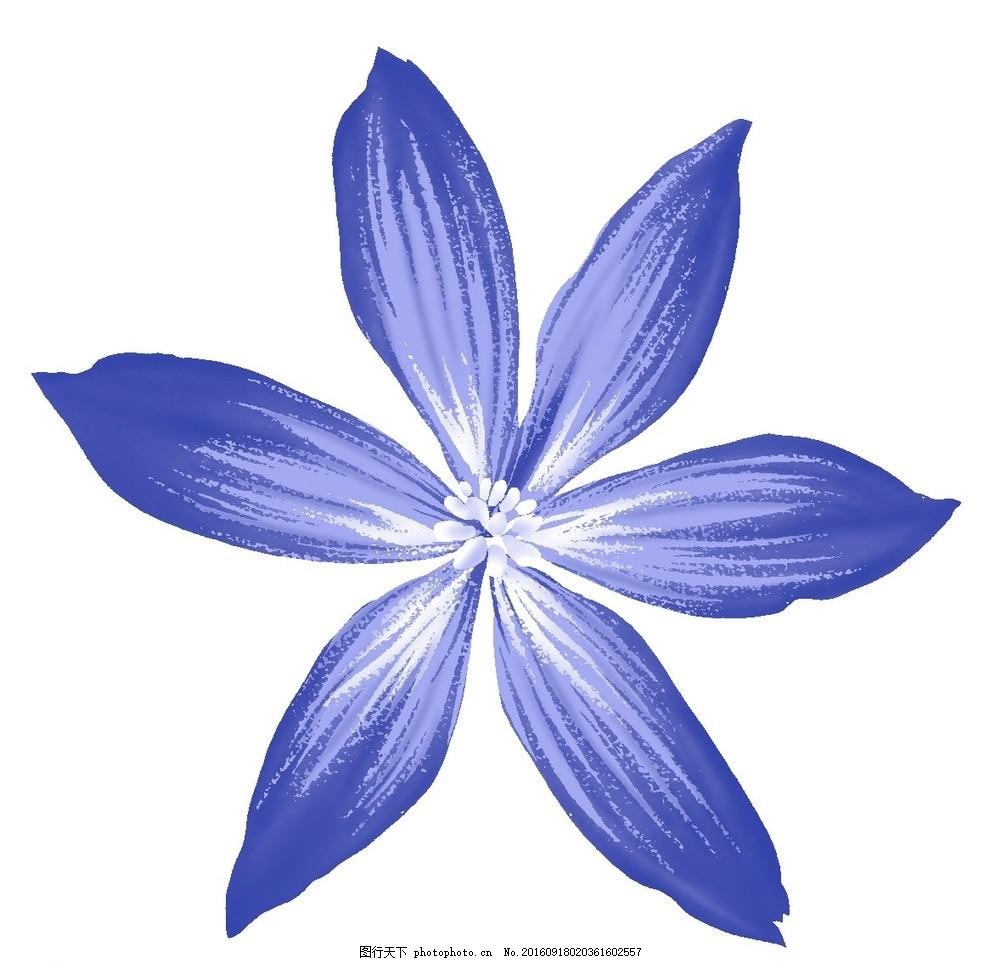 蓝色浪漫花朵素材 设计素材 海报背景 浪漫唯美 花纹线条 花纹背景 化