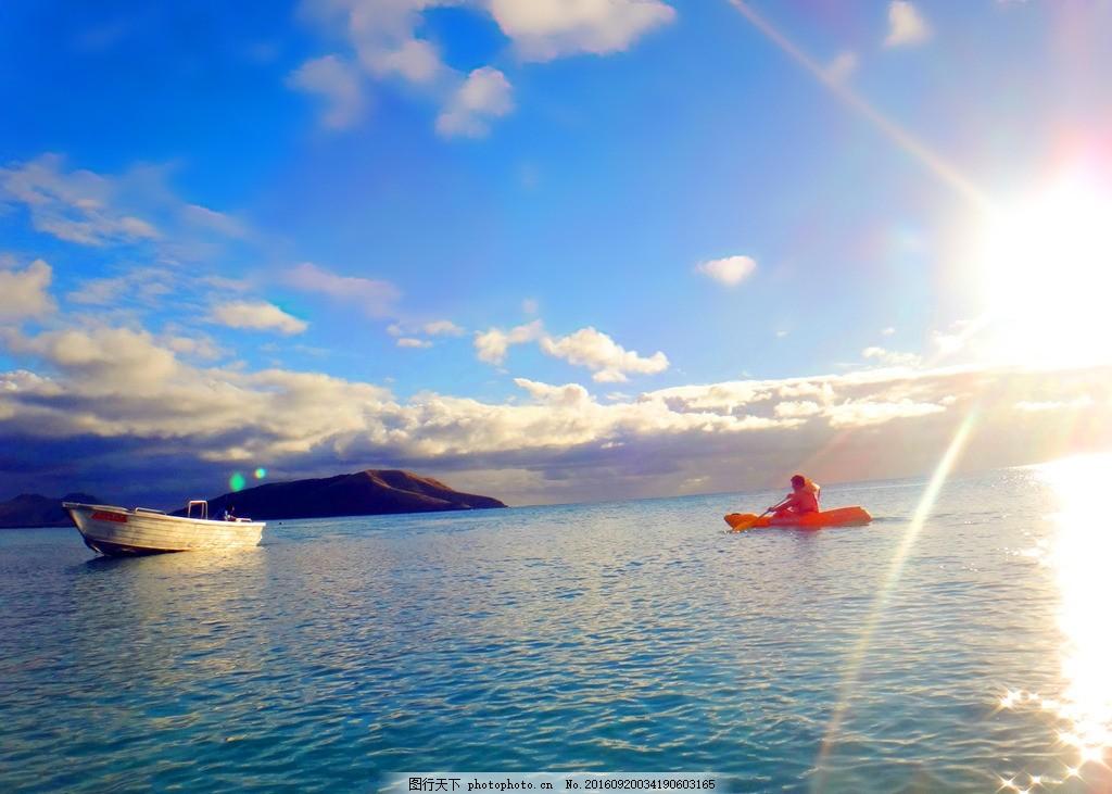 蓝天大海 蓝天 白云 大海 阳光 船只 自然风景 摄影 自然景观 自然