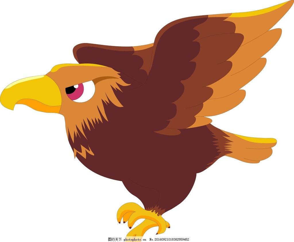 老鹰 动物 卡通 宝宝 可爱 生物 动物 设计 动漫动画 动漫人物 eps