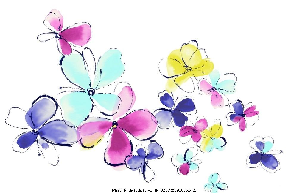 唯美彩色花朵素材