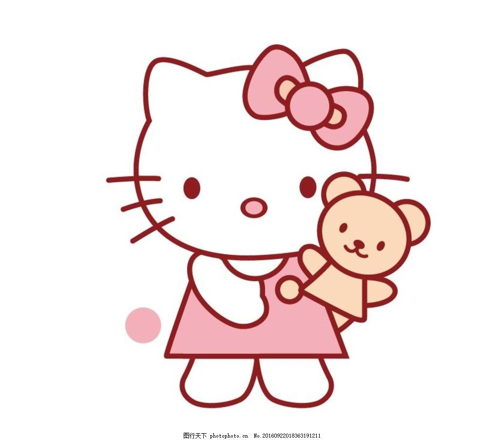猫咪 kt猫熊 猫 可爱卡通 kt猫 蝴蝶结 小熊 设计 动漫动画 动漫人物