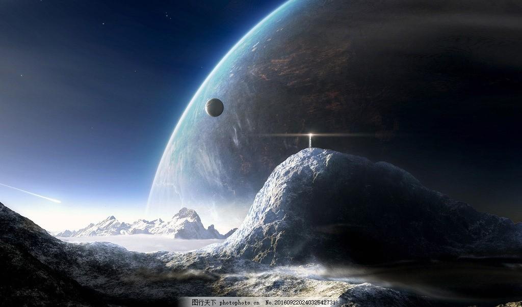 天空 深邃 唯美 旋涡 背景素材 流星 星云 撞击 黑洞 星空幕布 银河系