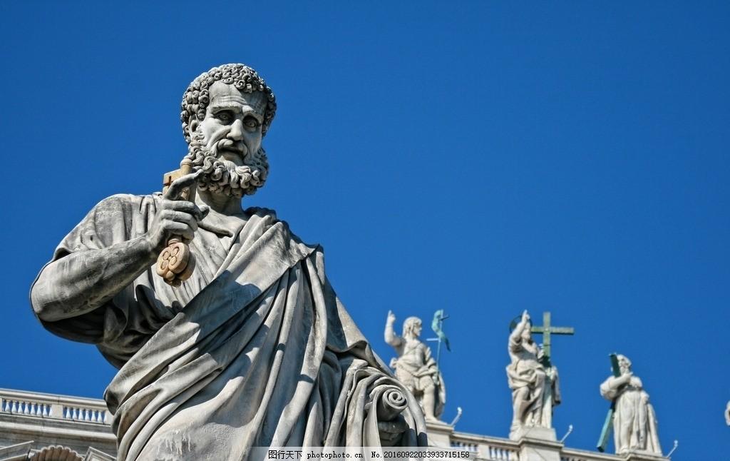 欧洲宗教雕塑 意大利 罗马 梵蒂冈 圣皮埃尔 文艺 摄影 国外旅游