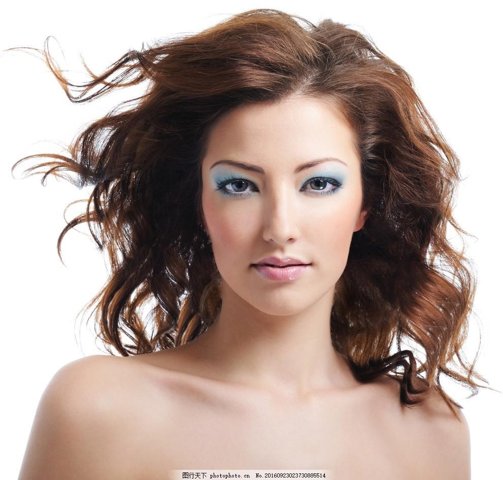 美发模特 发型 长发 秀发 头发模特 头发 女性模特 国外美女 摄影