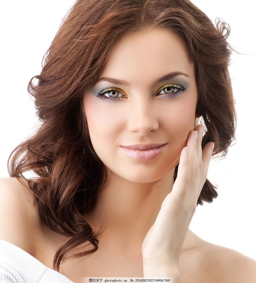 发型设计 美发造型 美发海报背景 长发美女 直发 美女 气质美女 欧美图片