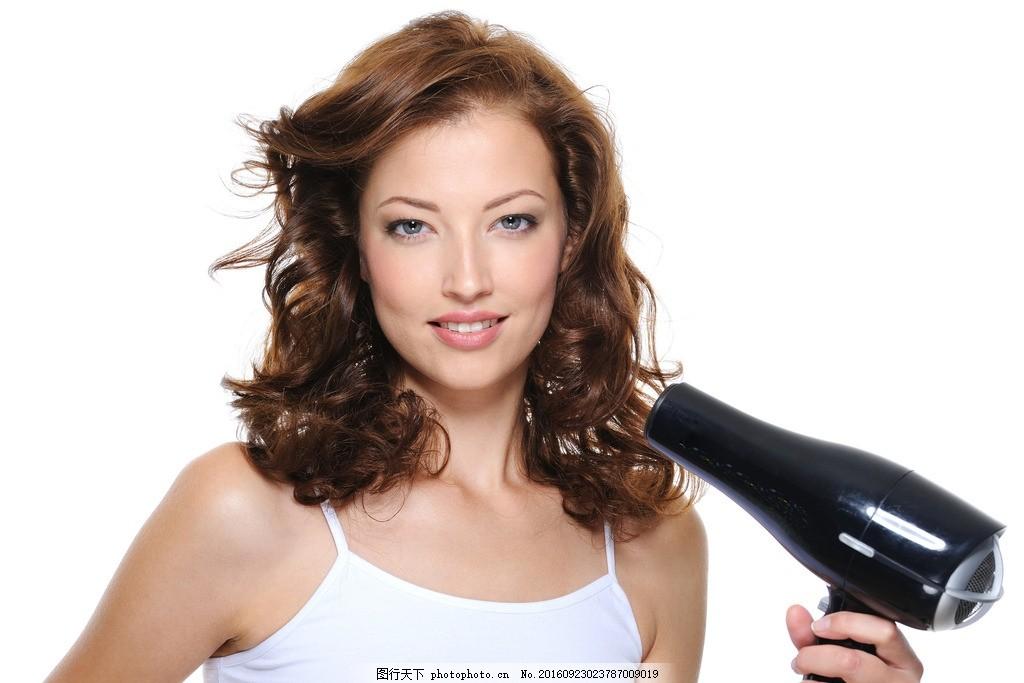 欧美美女 飘逸长发 外国模特 洋模特 吹拉烫染 染发 好发质 发质 美发图片