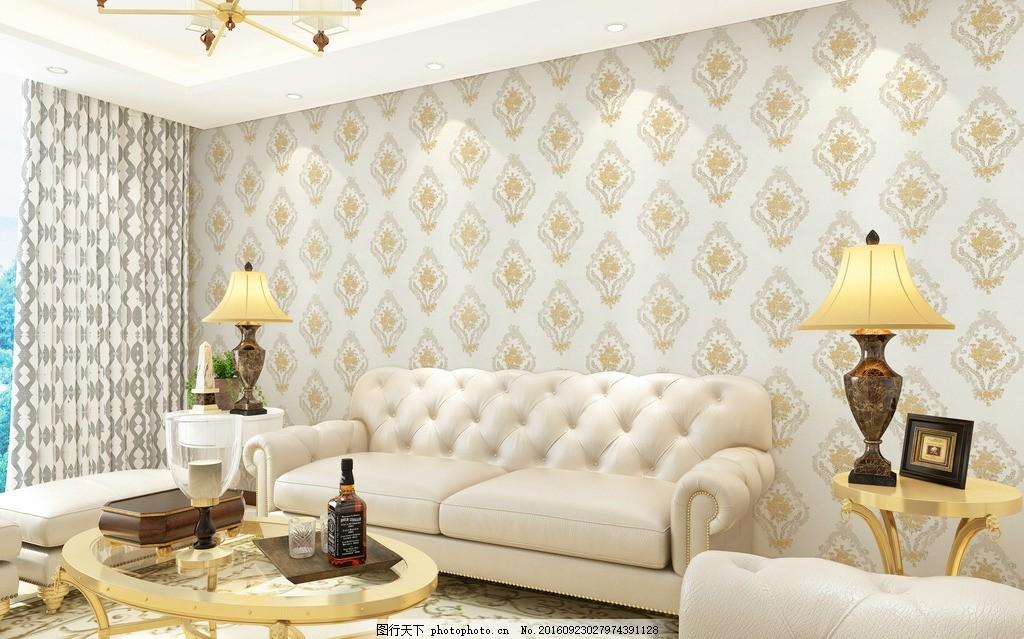 墙布效果图设计 墙布 家居 室内软装 窗帘        家具效果 设计 环境