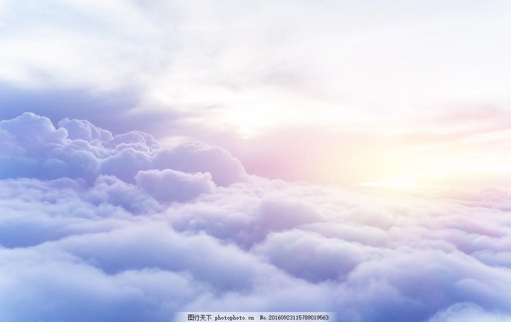 太阳梦幻天空 蓝天白云 白云朵朵 云彩 天空素材 天空背景 絮状云