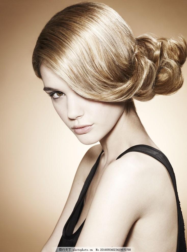 发型美女 模特 时尚 美艳 摄影 人物摄影图片