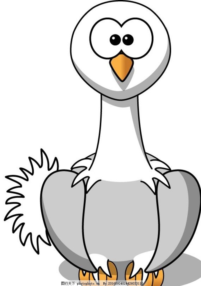 动物 鸵鸟 手绘 绚丽 儿童 绘画 动物矢量 设计 生物世界 野生动物 ai