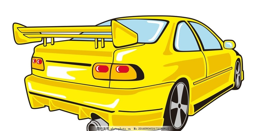 赛车汽车 小汽车 汽车 车辆 机械车 交通工具 车 简笔画 线条 线描 简
