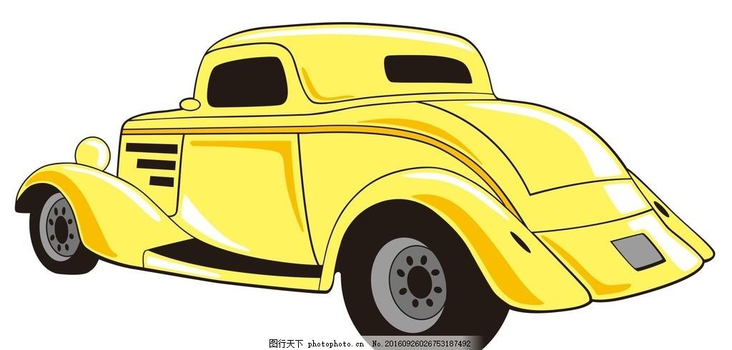 卡通汽车 汽车卡通 小汽车 车辆 机械车 简笔画 线条 线描 简画