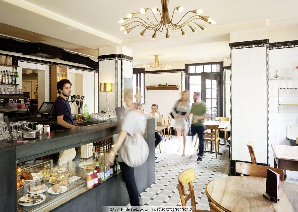咖啡厅 商店 购物 店铺 室内 收银台 西餐厅 摄影 建筑园林