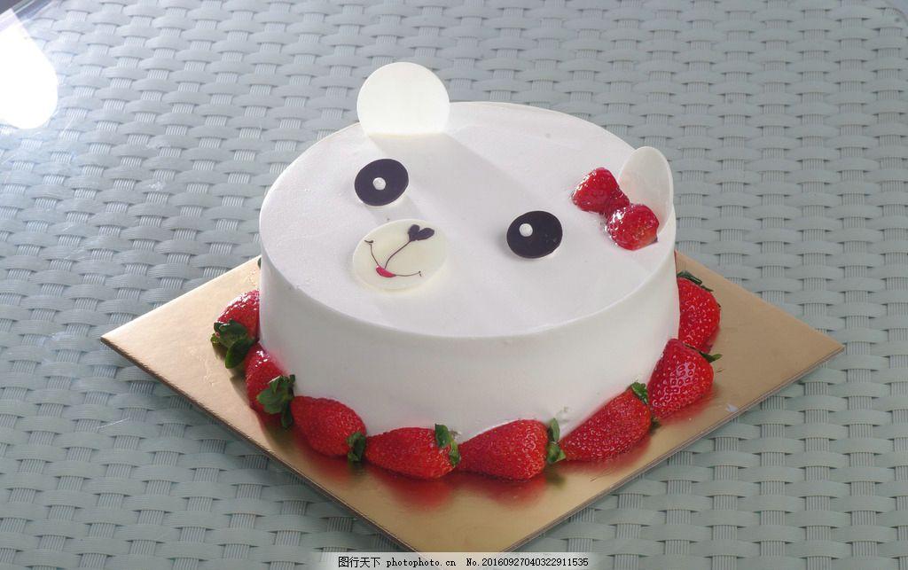 蛋糕 儿童蛋糕 卡通蛋糕 可爱 卡通 小甜心 小熊 摄影 餐饮美食 西餐