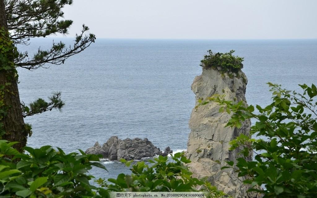 海湾 济州岛 国外 旅游 海边 海滨 大海 山水 绿色 蓝天 摄影
