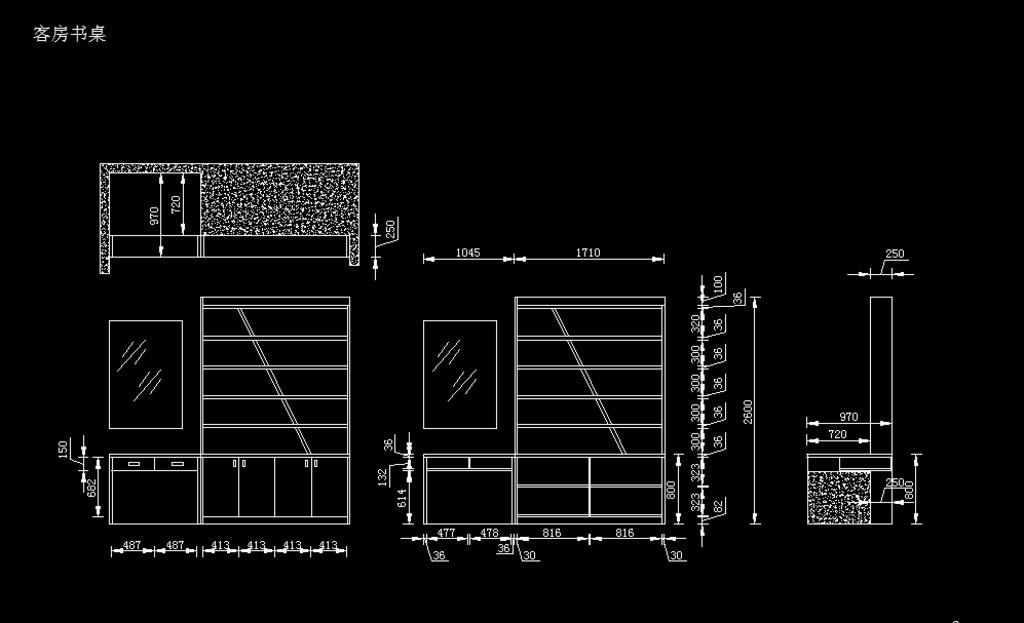 飘窗书桌设计方案 书柜设计 书架设计 窗台柜设计 陈龙设计 衣恋仙居