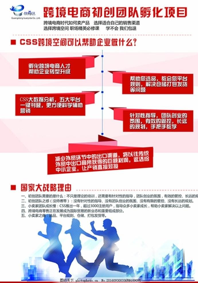 宣传单页 海报 红色方框 项目介绍 红色 白色背景 设计 psd分层素材 p